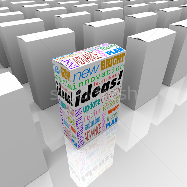 Many Boxes of Ideas - One Different Product Box Stands Out Stock photo © iqoncept
