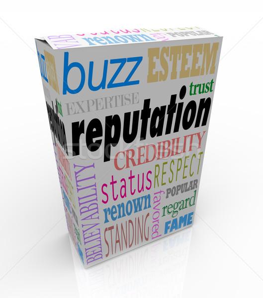 Sözler kutu güvenilir ürün kelime çok Stok fotoğraf © iqoncept