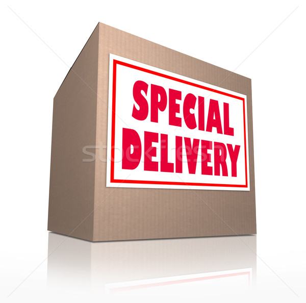 Special Delivery Mailed Cardboard Box Shipment  Stock photo © iqoncept