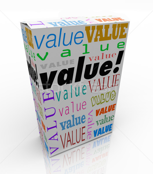 Value Word on Package Box Best Price Quality Product Stock photo © iqoncept