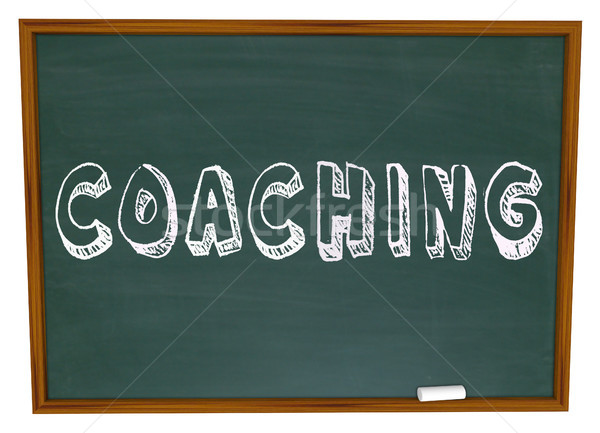 Coaching Word Chalkboard Teaching Learning Sports Education Stock photo © iqoncept