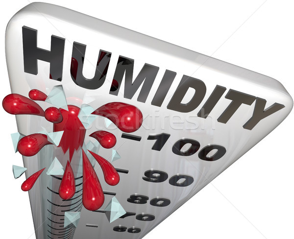 Humidity Level Rate Rising 100 Percent Thermometer Stock photo © iqoncept