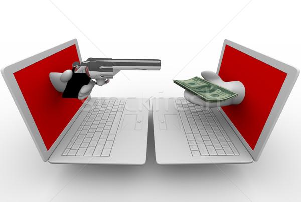 Online kradzież komputera laptopy strony laptop Zdjęcia stock © iqoncept