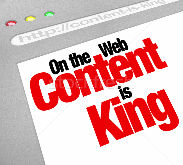 Stock photo: Content Is King Website Screen Increase Traffic More Articles Fe