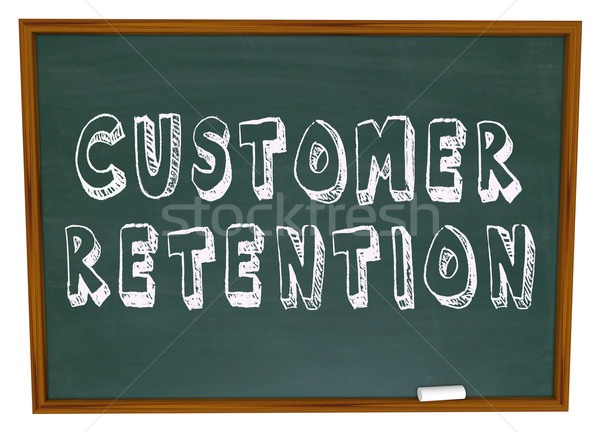 Customer Retention Words Dartboard Tips Advice Keeping Business Stock photo © iqoncept