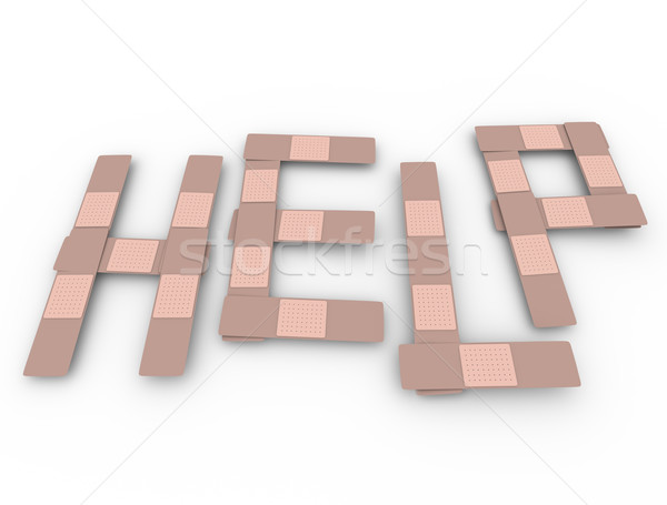 Help Word Bandages Medical Assistance Aid Support Stock photo © iqoncept