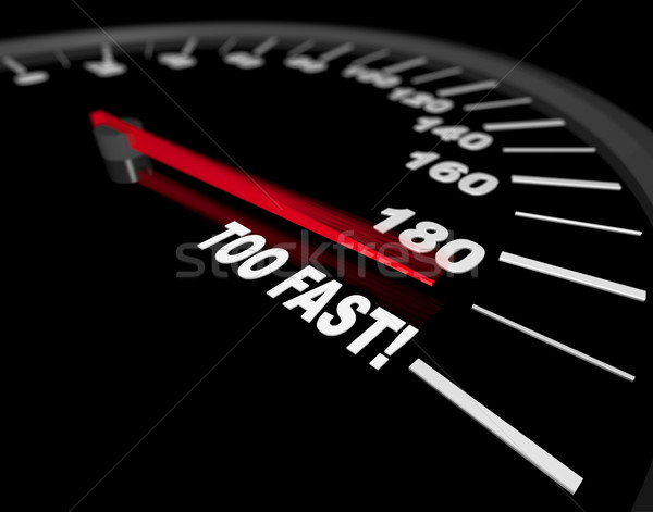 Speedometer - Going Too Fast Stock photo © iqoncept