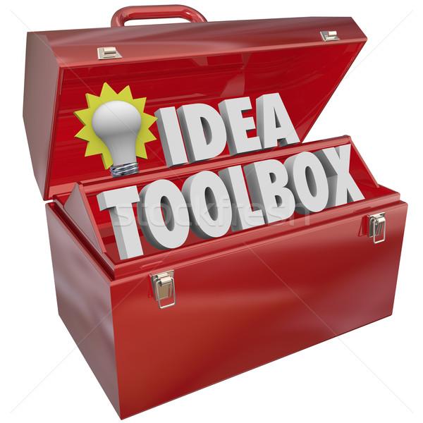 Сток-фото: Идея · Инструменты · креативность · вдохновение · мозговая · атака
