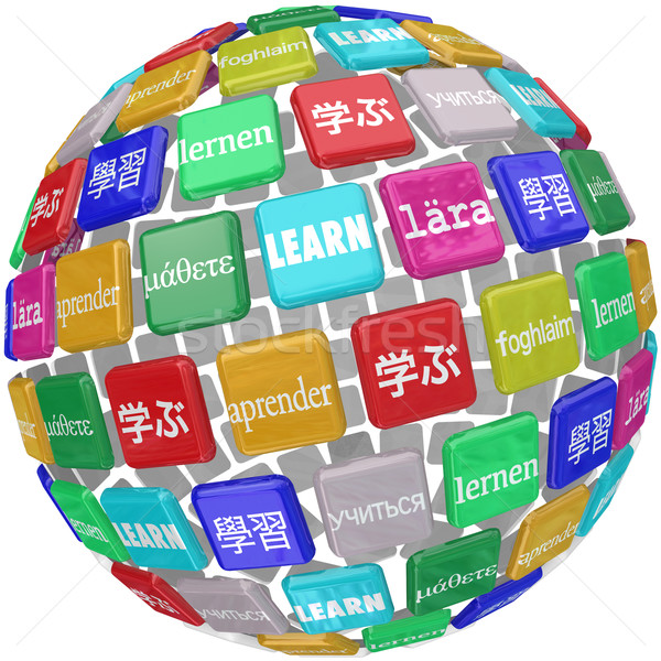 Learn Word Sphere International Languages Education World Cultur Stock photo © iqoncept