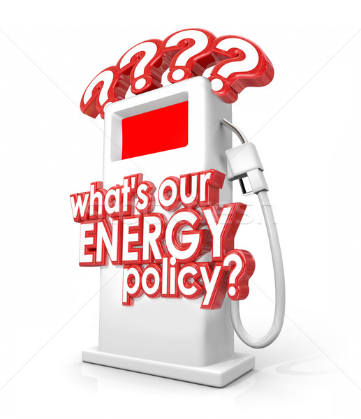 Mi energia irányvonal kérdés üzemanyag benzinkút pumpa Stock fotó © iqoncept