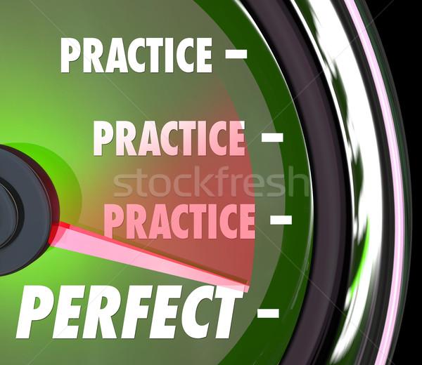 練習 パーフェクト 計 ゲージ 測定 パフォーマンス ストックフォト © iqoncept