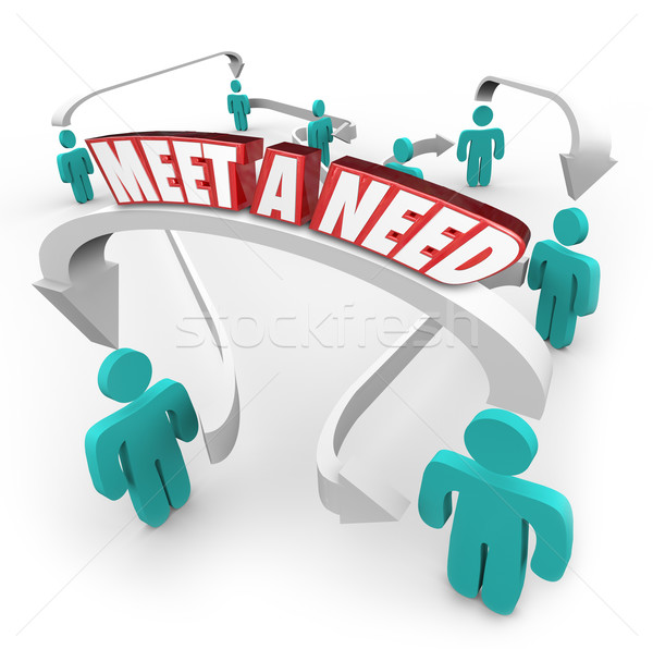 Meet a Need 3d Words Connected Buyers Sellers Product Service in Stock photo © iqoncept