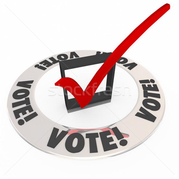 Głosowania sprawdzić ocena polu wyborów wybierać Zdjęcia stock © iqoncept
