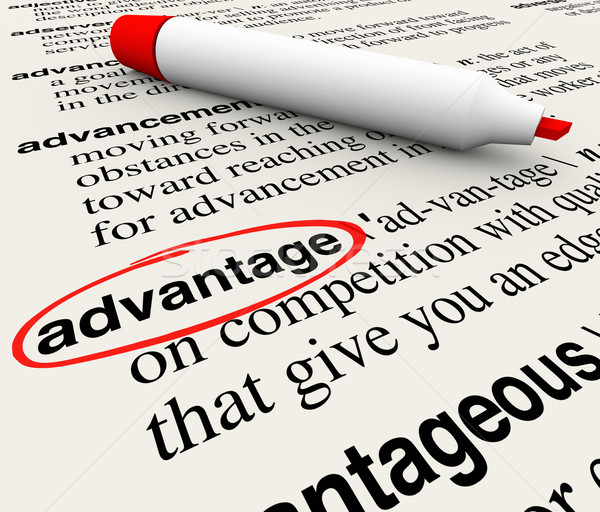 Stock photo: Advantage Dictionary Definition Word Circled Meaning Competitive