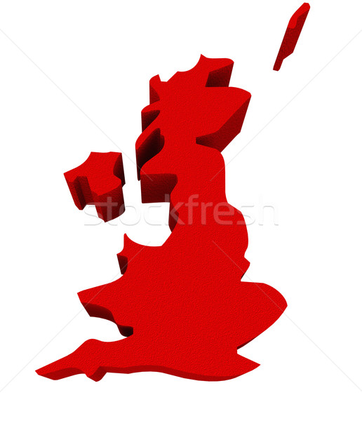 England UK United Kingdom Great Britain Red 3d Europe Map Stock photo © iqoncept