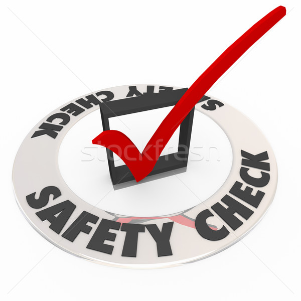 Biztonság csekk doboz osztályzat biztonság óvintézkedés Stock fotó © iqoncept