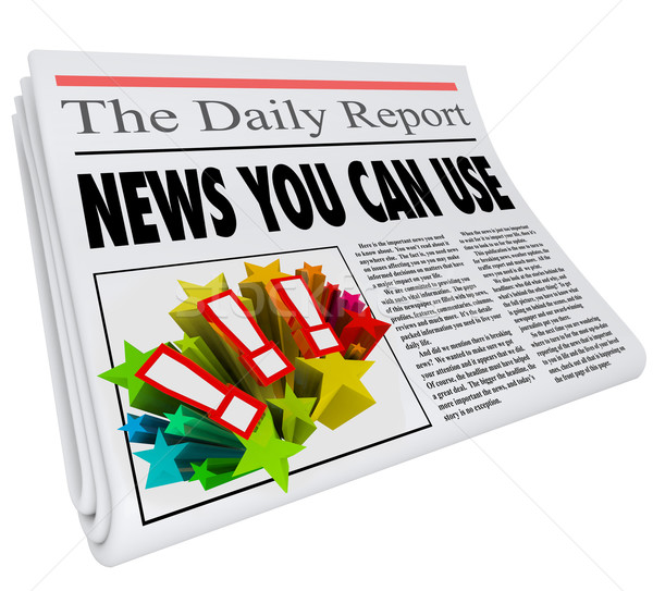 News You Can Use Headline Information Helpful Communication Stock photo © iqoncept