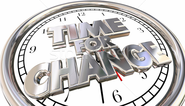 Time for Change Words Adapt Innovate Evolve Clock 3d Stock photo © iqoncept