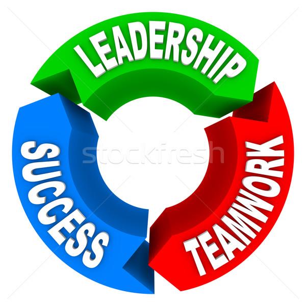 Leiderschap teamwerk succes pijlen kleurrijk Stockfoto © iqoncept
