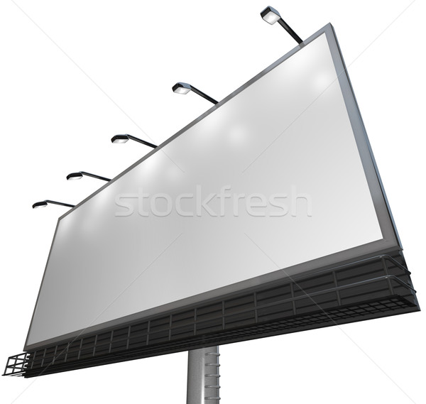 Blank White Sign - Advertisement of Product on Billboard Stock photo © iqoncept