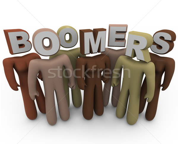 Boomers - People of Different Races and Older Age Stock photo © iqoncept