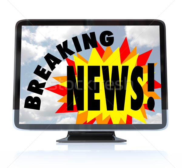 Breaking News - High Definition Television HDTV Stock photo © iqoncept