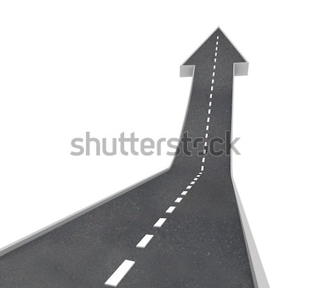 Fork in Road Ahead Choose From Two Directions Stock photo © iqoncept