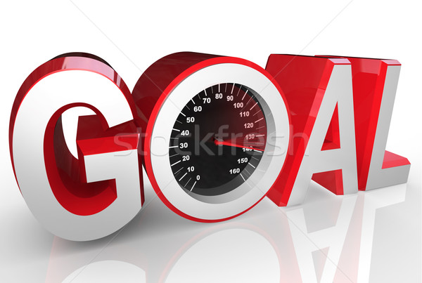 Goal Speedometer Quickly Racing to Success Achievement Stock photo © iqoncept