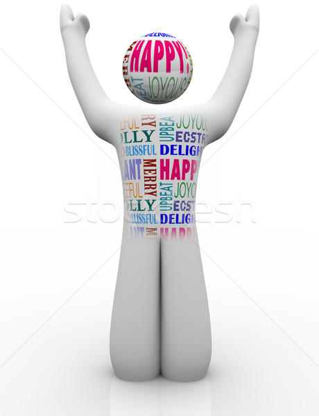 Happy Person Emtions Showing Joy Good Feelings Stock photo © iqoncept