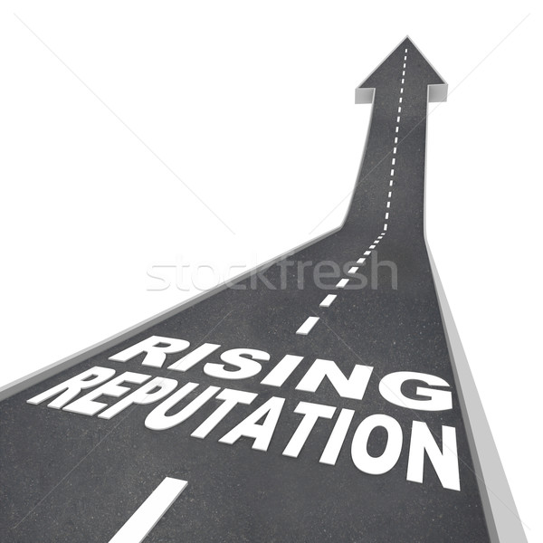 Rising Reputation - Road Arrow Up Improved Stature Opinion Stock photo © iqoncept