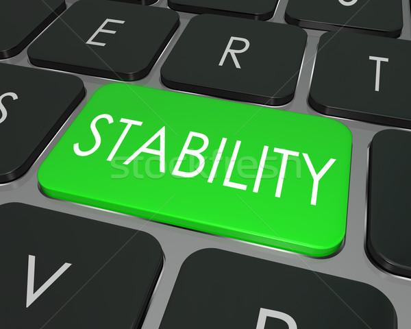 Stabiliteit woord sleutel veilig beveiligde Stockfoto © iqoncept