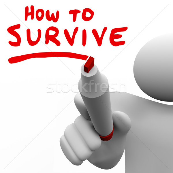 How to Survive Words Advice Learning Skills Knowledge Survival Stock photo © iqoncept