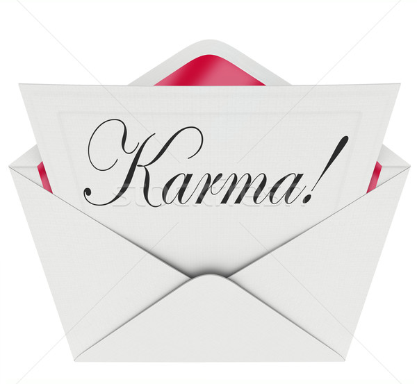 Stock photo: Karma Invitation Letter Message Open Envelope Good News Luck