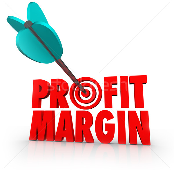 Stock photo: Profit Margin Arrow in Target Competing Business Growth Money In