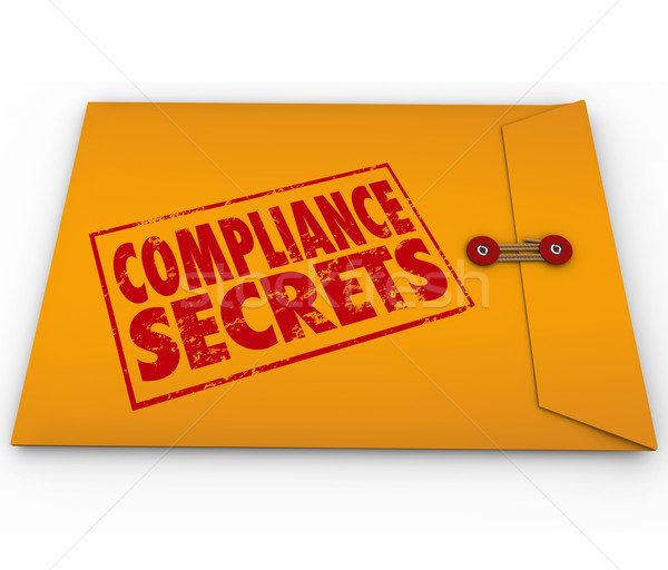 Compliance Secrets Advice Following Rules Yellow Envelope Stock photo © iqoncept