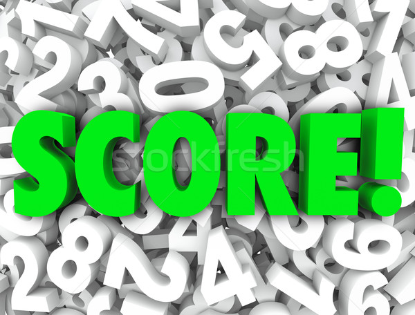 Score Word Numbers Background Final Tally Evaluation Grade Ratin Stock photo © iqoncept