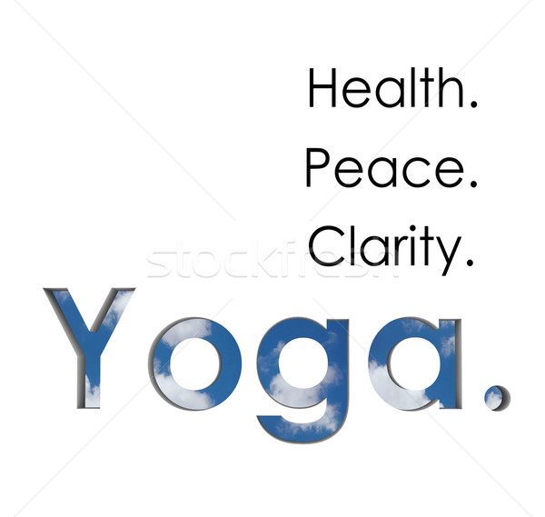 ga Health Peace Clarity Words Exercise Fitness Wellness Stock photo © iqoncept