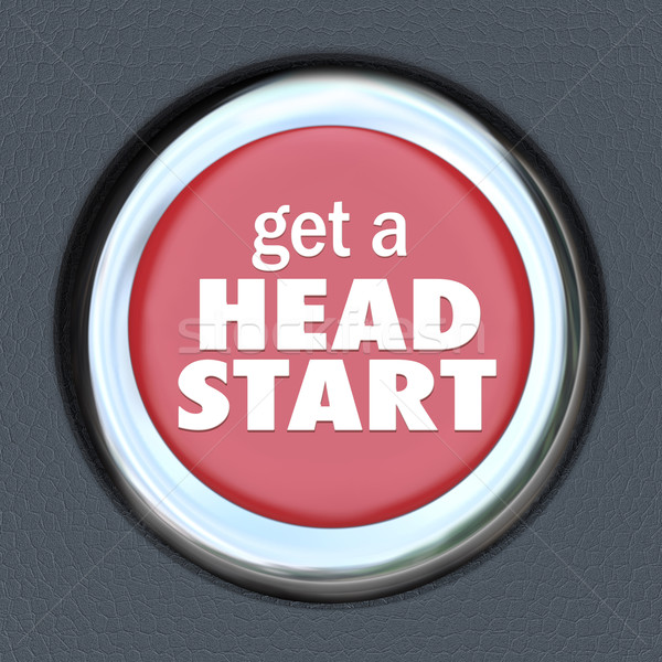 Get Head Start Red Button Competitive Advantage Early Edge Stock photo © iqoncept