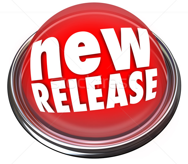New Release Product Debut Update Refresh Red Button Refresh Stock photo © iqoncept