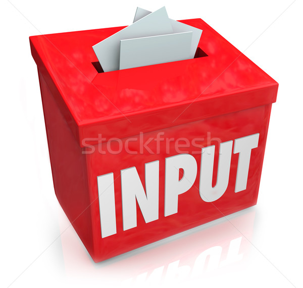 Input Word Suggestion Feedback Collection Box Stock photo © iqoncept