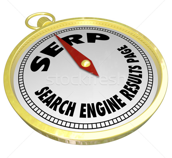 SERP Search Engine Results Page Compass Internet Website Optimiz Stock photo © iqoncept