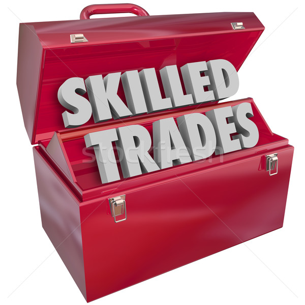 Skilled Trades Toolbox Technician Mechanic Blue Collar Work Job  Stock photo © iqoncept