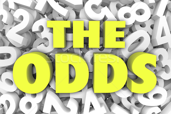 The Odds 3d Word Letters Number Background Chances Possible Like Stock photo © iqoncept