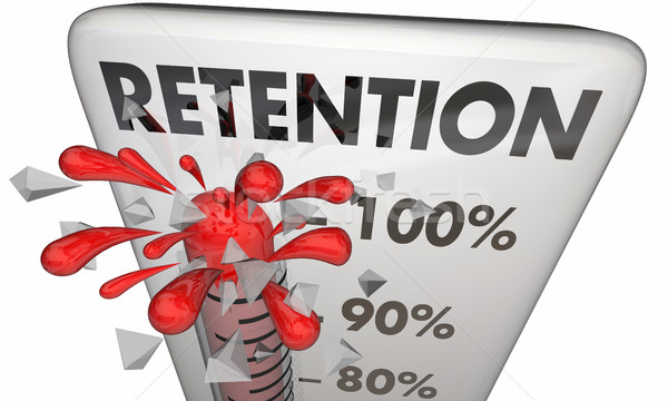 Retention Hold Onto Keep Customers Employees Thermometer 3d Illu Stock photo © iqoncept