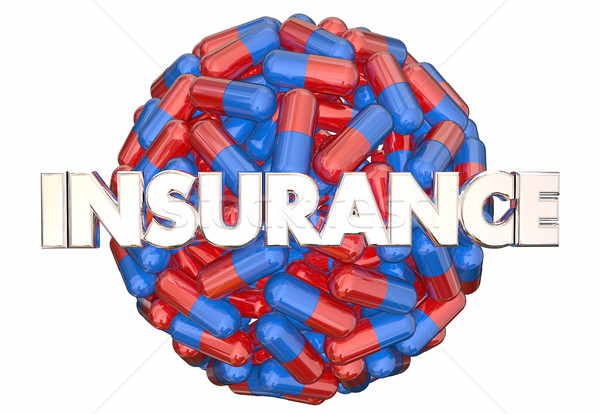 Insurance Prescription Medicine Coverage Medication Pills Capsul Stock photo © iqoncept