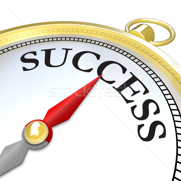Compass Arrow Pointing to Success Reaching Goal Stock photo © iqoncept