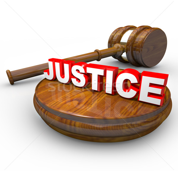 Justice - Judge Gavel and Word Stock photo © iqoncept