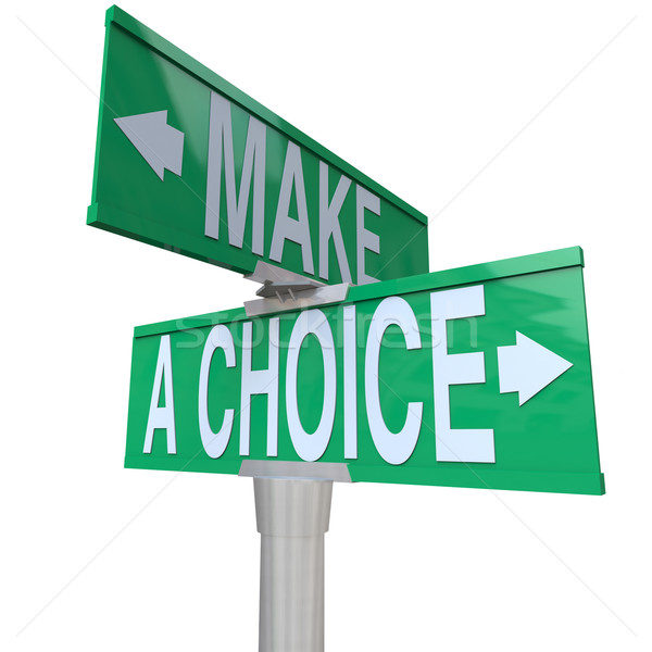 Make A Choice Between 2 Alternatives - Two-Way Street Sign Stock photo © iqoncept
