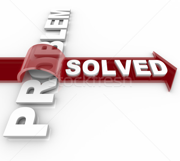 Problem Solved - Successful Solution to Issue Stock photo © iqoncept