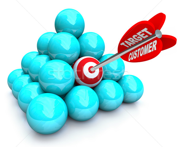 Targeted Customer in Marketing Pyramid Stock photo © iqoncept